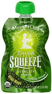Mamma <b>Chia Squeeze Vitality</b> Snack Green Magic 3 5 Ounce Pack ...