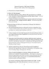 research experience dr rashmi hebalkar