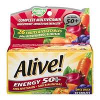 Nature's Way <b>Alive Energy 50</b>+ <b>MultiVitamin</b>-<b>Multimineral</b> Tablets ...