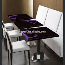 dining table size restaurant