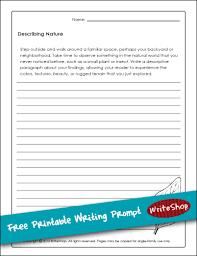 describing nature  free printable writing prompt  writeshop