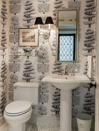 dog faces ceramic bathroom accessories shabby chic: linnaeus noir wallpaper in the traditional powder room