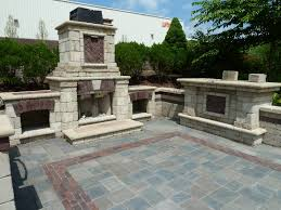 outdoor fireplace paver patio: paver  unilock bewster outdoorshowroom paver