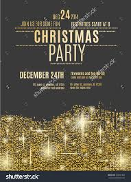 glittering gold christmas party invitation flyer stock vector save to a lightbox