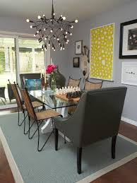 beautiful chandelier also metal top dining table plus lush chairs beautiful funky dining room lights