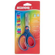 <b>Ножницы</b> детские <b>Kores Softgrip</b> 13 см с пласт. прорезин ...
