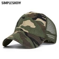 <b>2019 Camo Baseball Caps</b> Men Summer Mesh Cap Tactical ...