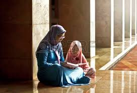 Image result for image mother and children moslem