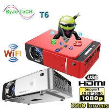 <b>UNIC T6</b> светодиодный <b>проектор</b> Full HD 1080P 3500 люмен ...