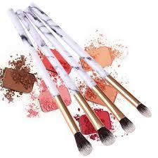 1 4 10pcs marble makeup brush kit soft hair eyebrow eye shadow tools make up cosmetic beauty toiletry
