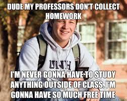 Talking to a first semester freshman when... | Rebrn.com via Relatably.com