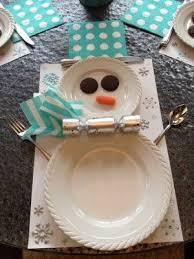 household dining table set christmas snowman knife: diy snowman table setting  diy snowman table setting