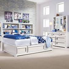the elite reflections bookcase storage platform bed collection will add contemporary style and ample storage to aspen white painted bedroom