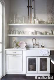 Kitchen Open Shelves Kitchen Minimalist White Open Kitchen Shelving On White Beadboard