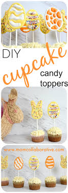 how to make easter cupcake toppers mom collaborative diy candy cupcake toppers templates and directions on how to make easter egg and