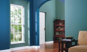 blue green paint color popular living room