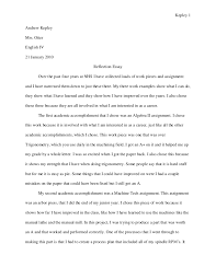 reflective essay new