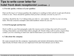 4 tips to write cover letter for hotel front desk cover letter front desk