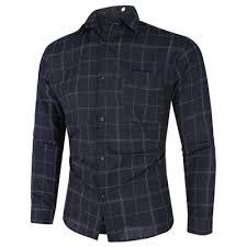 Business <b>Mens Fine</b> Plaid Long sleeved <b>Shirt</b> Male <b>Shirt</b>