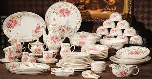 kitchen ceramic crockery set luxurious dinnerware sets  pieces ceramic tableware set bone china din