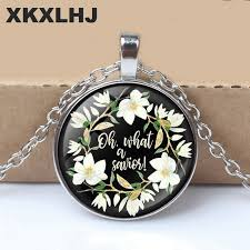 <b>XKXLHJ New Bible Verses</b> Necklace Glass Dome Pendant ...