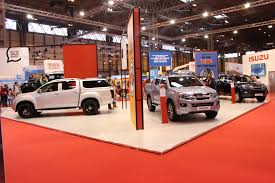 isuzu stand at the cv show commercial vehicle dealer isuzu stand at the cv show 2016
