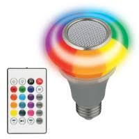 <b>Светильник</b> светодиодный <b>Volpe ULI</b>-<b>Q340</b> 5W/RGB/E27 Silver ...