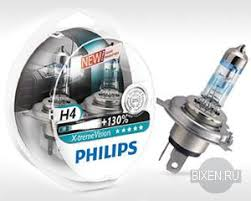 <b>Лампы</b> H4 <b>Philips X</b>-<b>treme</b> Vision +130%, 2 шт. - BIxen.ru