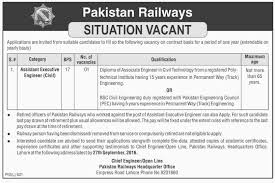railways jobs for dae civil engineering lahore rd railways jobs for dae civil engineering lahore 3rd 2016