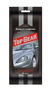 <b>Салфетки влажные TOP GEAR</b> JUMBO SIZE д/стекл, зеркал, фар ...