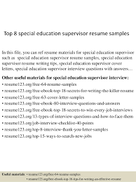 top 8 special education supervisor resume samples in this file you can ref resume materials education resume sample