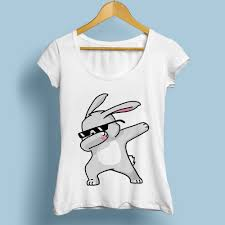 cute dabbing rabbit <b>tshirt women 2018 summer</b> new white casual ...