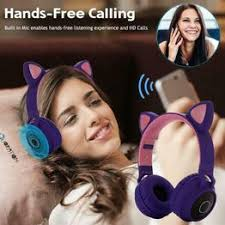 Cute Wireless Bluetooth Cat Ear Headset With Mic Noise ... - Vova