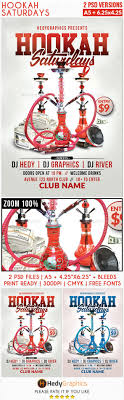 hookah saturdays flyer template by hedygraphics graphicriver hookah saturdays flyer template clubs parties events
