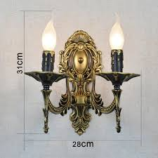 Easy to clean 2 Arms candle <b>wall lamps</b> Iron vintage <b>Hallway</b> wall ...