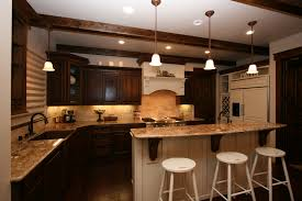 two toned old world kitchen attractive kitchen bench lighting