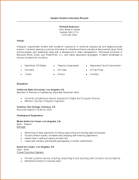 sample resumes internship resume examples for college students internship resume sample for college students