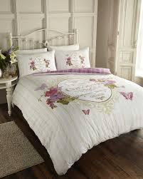 script butterfly paris chic quilt duvet cover bedding set single