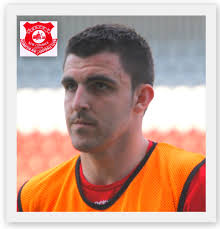 GARETH CAMPBELL ( Irvine: 19/12/88). Signed: July 2011 by Darren Henderson. Debut: 27/07/11 v Muirkirk Juniors - squadgarethcampbell