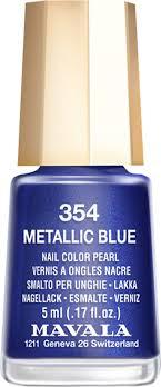 Mavala <b>Лак для ногтей</b> Синий кобальт/<b>Metallic</b> Blue, Тон 354, 5 мл