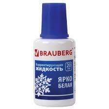 Купить <b>Корректирующая жидкость BRAUBERG</b>, быстросохнущая ...