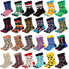 <b>1 Pair Colorful</b> Combed Cotton Socks Panda Camouflage Long ...