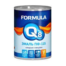 <b>Эмаль ПФ</b>-<b>115</b> белая, 1,9 кг, <b>Formula Q8</b> (<b>Формула Q8</b> ...
