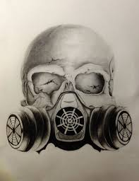 Images For > <b>Skull Gas Mask</b> Drawings (With images) | Gas mask ...