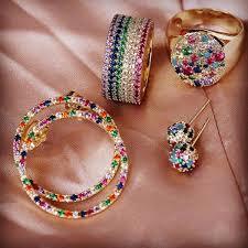 2019 Super Shiny Fashion <b>Rainbow</b> Earrings Rose Gold Color ...