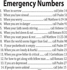 Amazon.com: Decal Quote-Bible Verse Wall Decal-Emergency Numbers ...
