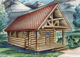 Log Cabin Plans  Log Home Plans  Log House Plans   B UBUILD COMGLH  log cabin plans   covered front porch and a stone fireplace