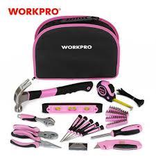 <b>WORKPRO 103PC</b> Pink Tool Set Ladies <b>Hand Tool</b> Set with Easy ...