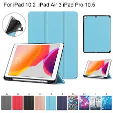 <b>Tablet Case</b> For iPad Air 3 10.5 2019 With Pencil <b>Case</b> Tri-fold ...