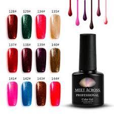 MEET ACROSS 7ml 12 Color Glitter UV Gel Polish Soak Off ... - Vova